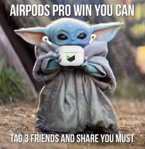 Win-AirPods-Pro-Contest-Baby-Yoda-Phones-In2-Cash-Johnson-City-TN